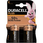 Pile Duracell Alcaline PLUS POWER C/LR14, X2