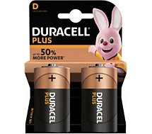 Pile Duracell Alcaline PLUS POWER D/LR20 x2