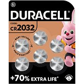 Pile Duracell DL/CR 2032 x6