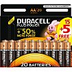 Pile Duracell Plus Power AA/LR6 pack de 20 unités
