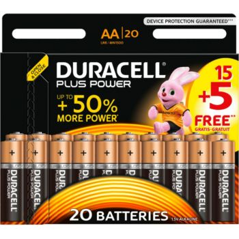 Duracell Plus Power AA/LR6 pack de 20 unités