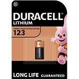 Pile Duracell  spéciale ultra lithium CR123, 1 unité