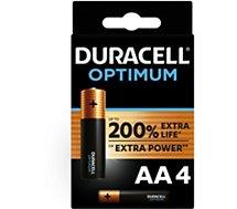 Pile Duracell  AA x4 Optimum