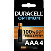 Pile Duracell AAA x4 Optimum
