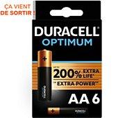 Pile Duracell AA x6 Optimum