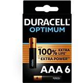 Pile Duracell AAA x6 Optimum