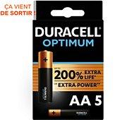 Pile Duracell Optimum AA x5