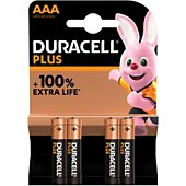 Pile Duracell AAA X4 PLUS