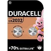 Pile Duracell Lithium DL/CR 2032, pack de 2 unités