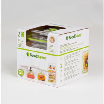 Food Saver FFC015X01 lotx2 700ml + 1.2L