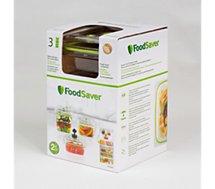 Boîte sous vide Food Saver  FFC015X01 lotx3 700ml + 1.2L + 1.8L