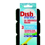 Désinfectant Dishmatic  Lot de 3 recharges éponges vertes