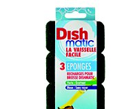 Dishmatic Lot de 3 recharges éponges vertes