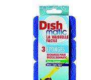 Dishmatic Lot de 3 recharges éponges bleues