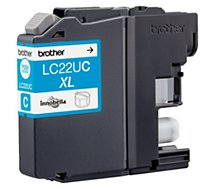 Cartouche d'encre Brother LC22U Cyan