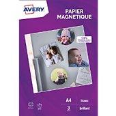 Papier créatif Avery 3 Papiers magnétiques brillants A4