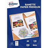 Papier ramette Avery  200 Feuilles de papier premium 120g