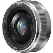 Objectif pour Hybride Panasonic 20mm f/1.7 II silver Lumix G