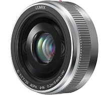 Objectif pour Hybride Panasonic  20mm f/1.7 II silver Lumix G