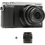 Appareil photo Hybride Panasonic  DMC-GX80 Silver + 12-32mm + 35-100mm