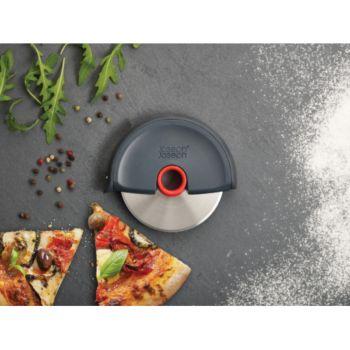 Joseph Joseph Disc Roulette à Pizza - Gris/Rouge