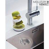 Brosse Joseph Joseph à vaisselle + réservoir Palm Scrub -Vert