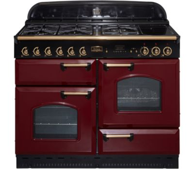 Pack falcon classic 110 mixte rouge laiton boulanger - Piano de cuisson rouge ...