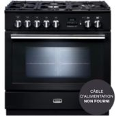 Piano de cuisson gaz Falcon PROFESSIONAL +FXP 90 Mixte NOIR BRILLANT