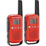 Talkie walkie Motorola  TLKR-T42 WE TWIN PACK rouge