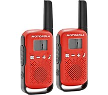 Talkie walkie Motorola TLKR-T42 WE TWIN PACK rouge