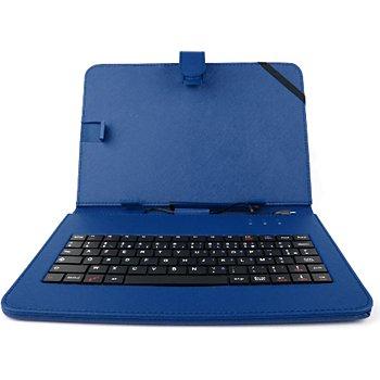 Duragadget bleu clavier azerty pour tablette 7 for Boulanger etui tablette