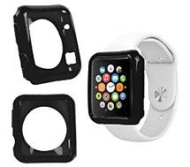 Coque Duragadget noir coque pour montre Apple Watch 38mm