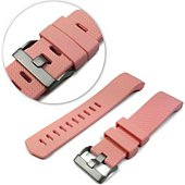 Bracelet Tuff-Luv silicone rose pour Fitbit Charge 2