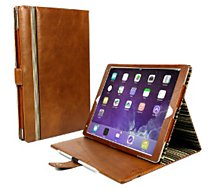 Etui Tuff-Luv cuir 'vintage' marron pour iPad Pro 10.5