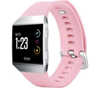 Tuff-Luv silicone rose pour Fitbit Ionic