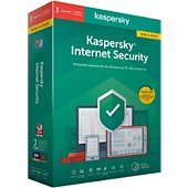 Logiciel antivirus et optimisation Kaspersky Internet Security 2020 MAJ (3 P / 1 AN )