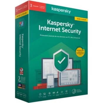 Kaspersky Internet Security 2020 MAJ (3 P / 1 AN )