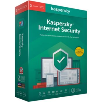Kaspersky Internet Security 2020 (5 Postes / 1 An)