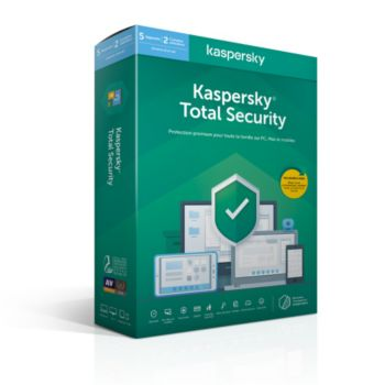 Kaspersky Total Security 2020 (5 Postes / 1 An)