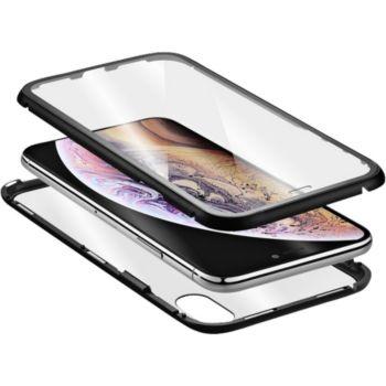 Qdos iPhone Xs Max transparent et noir
