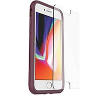 Pack Otterbox  iPhone 7/8 Coque wine + Verre trempé