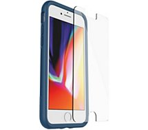 Pack Otterbox  iPhone 7/8 Coque bleu + Verre trempé