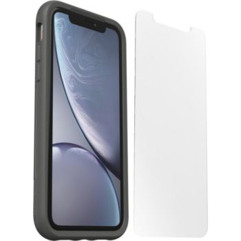 Otterbox iPhone Xr Coque gris + verre trempé