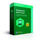 Logiciel antivirus et optimisation Kaspersky Antivirus 2018 3 Postes / 1 An