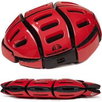 Morpher Casque de vélo pliable couleur - Rouge