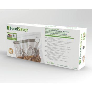 Food Saver FVB016X01 lot 20 sacs avec Zip 3.79L