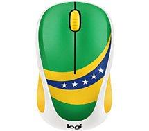 Souris sans fil Logitech M238 Fan Collection Brésil