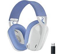 Casque gamer Logitech  G435 Lightspeed Bluetooth Blanc