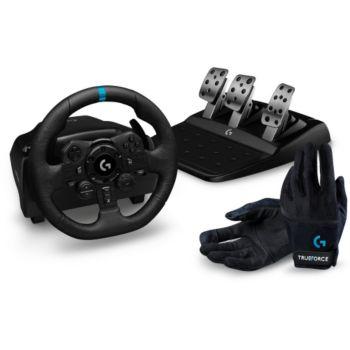 Logitech Volant G923 PS+Gants racing
