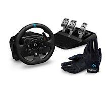 Volant + Pédalier Logitech  Volant G923 XB+Gants racing